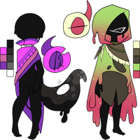 [Approved!!]://Mocchin Slime Siblings by Juvialle