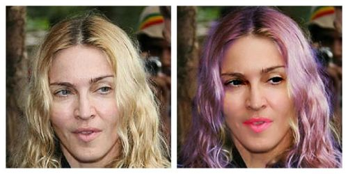 Madonna No Makeup, Then Touch-Up, Before and After by emilyrutherford
