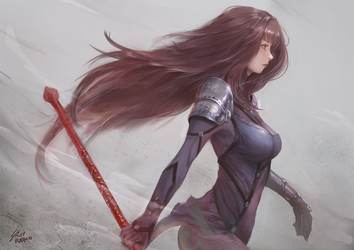 Scathach by raikoart