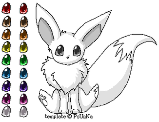 Cute eevee template by FinsterlichArt