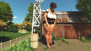Big countryside Girl:  Preview 1. by nyom87