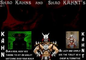 Shao Kahns and Shao KAHNT's 01 by LordKrogoth