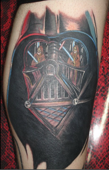 darth vader tattoo by inkaholick