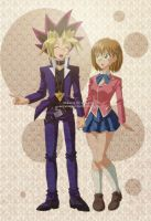 commission : yugi and Jordyn by pink-hudy