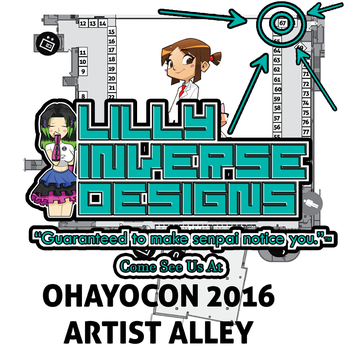 Come See Us at Ohayocon! by LillyInverse