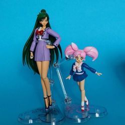 Sailor Moon custom Figuarts - ChibiUsa and Setsuna by zelu1984