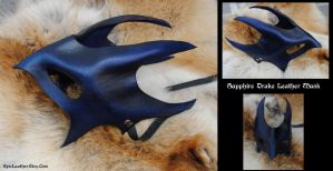 Sapphire Drake Leather Mask by Epic-Leather