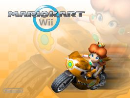 Mario Kart Wii Daisy Mach Bike by Gamehuntsuprise50pc