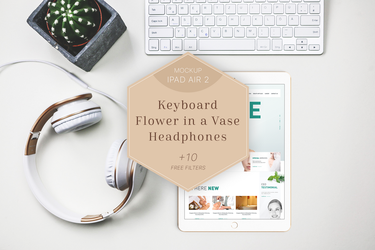 iPad Air 2 Mockup Headphones/Flower by theanthnonyrich