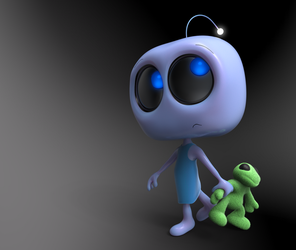 Zbrush Doodle Day 927 - Robot Kid Series 35 by UnexpectedToy