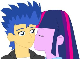 Twilight Sparkle Kissing Flash Sentry by danparkerstudios