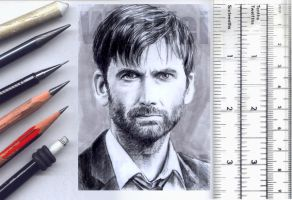 David Tennant miniature by whu-wei
