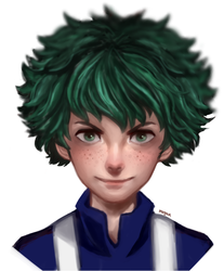 Deku (commission headshot)~ by morgyuk