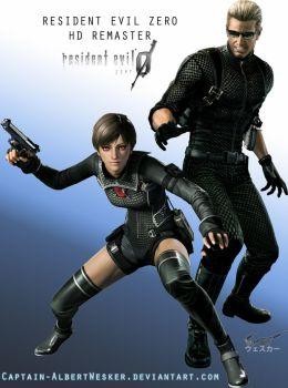 Resident Evil Zero HD REMASTER Wesker and Rebecca by Captain-AlbertWesker