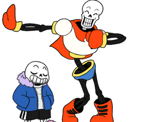 Dancing Skelebros by Whimsy-Floof