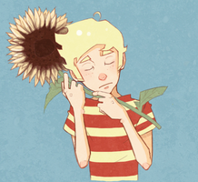 she was like a sunflower by DapperPepper