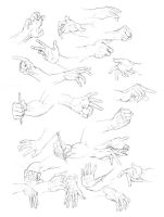 hand studies by hyokka