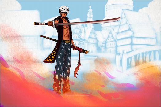 The Man from the White City - 1 (One Piece fanart) by MajorasMasks