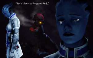 Liara wallpaper by DarthxRevan