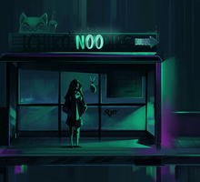 Too late for noodles (small .GIF animation) by Matiriko