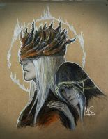 Lothric, Younger Prince, Lorian, Elder Prince by LaMoMM