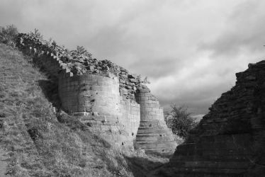 Sandal Castle - view from moat by CanisDiabolos
