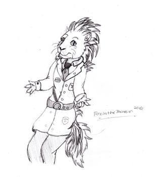 Anthro Porcupine (sketch ) by Thefoxinthemirror