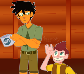Camper David and Counselor Max by mewriaty