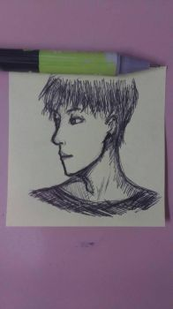 Sticky note sketch by Yuilebish