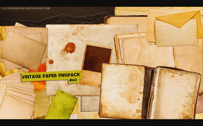 Vintage Paper Pngpack #60 by LilithDemoness