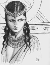 Cleopatra - pencil work by AnulkaD
