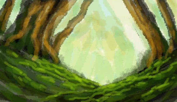 Forest - painting steps by emesemese