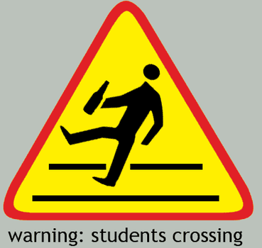 students crossing by bagienny