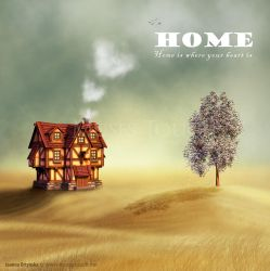 Home is where your heart is by MusesTouch-digiArt