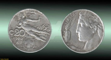 Coin 20 Cents - 1920 (Italy) by Book-Art
