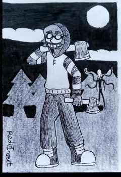 Ticci Toby Fanart (Inktober 27) by RedisInsect