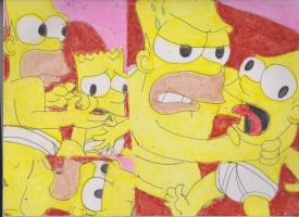 Homer Choking Bart 1 by RozStaw57