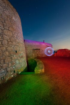 Fort Hommet by Night by OrbMeUp