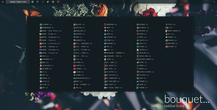 Bouquet Taskbar Icons by niivu