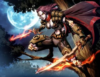 Warcraft - Deathstalker Leanna by GENZOMAN