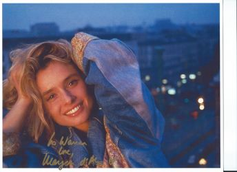 Actress Maryam D'Abo's autograph by wemayberry