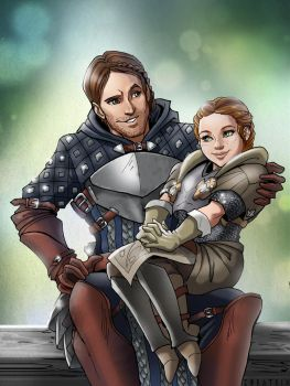 Comm: Silas Bronach and Scout Lace Harding by Zoratrix