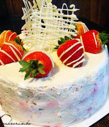 White Chocolate Cream Gateaux by cakecrumbs