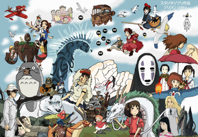 Studio Ghibli - Tribute by Juggernaut-Art