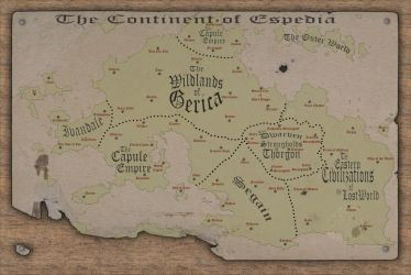 Old World - Continent of Espedia by meditatingmunky