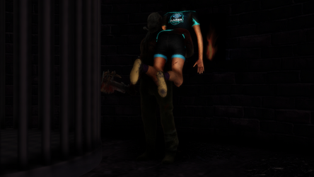 [MMD] Feng Min captured by Trapper by AsianChiq23