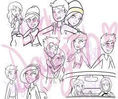 Wip- All my OC XS couples by Como-La-Flor