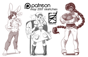 Patreon May Sketches by DKDevil