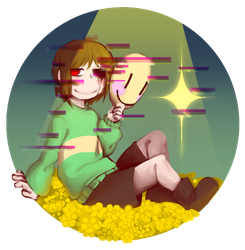 Corrupt!Chara by Zrllosyn