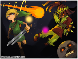 Skull Kid And Link by PeteyXkid